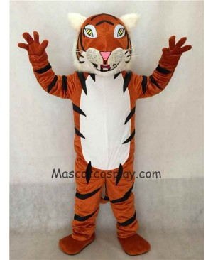 Hot Sale Adorable Realistic New White Belly Bengal Tiger Mascot Costume
