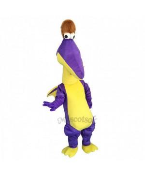 Funny Purple Magic Dragon Mascot Costume