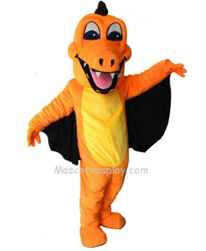 New Orange Dragon with Wing Mascot Costume