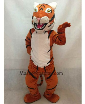 Hot Sale Adorable Realistic New Popular Professional New Adult Orange and White Siberian Tiger Mascot Costume