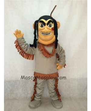 Hot Sale Adorable Realistic New Popular Professional American Indian Brave Mascot Costume