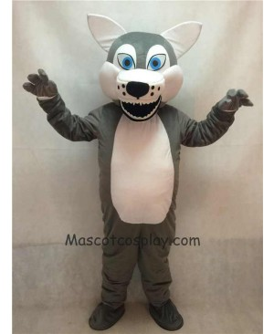 Hot Sale Adorable Realistic New Popular Professional Fierce Grey Short-haired Wolf Mascot Adult Costume