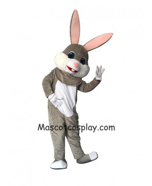 New Grey Easter Bunny Rabbit Mascot Costume