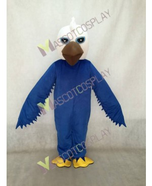 White Head Blue Body and Eyes Eagle Mascot Costume