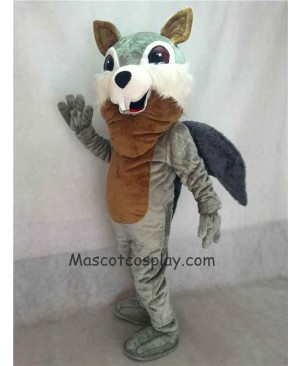 Gray Squirrel Plush Mascot Costume with Gray Tail