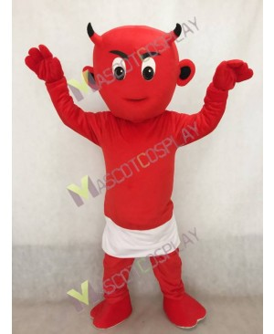 Red Lil Devil Mascot Costume