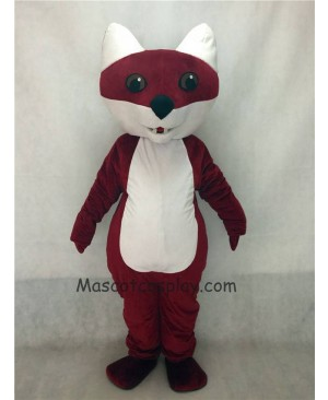 Hot Sale Adorable Realistic New Popular Professional Dark Rust Red Brown Cartoon Fox Mascot Costume