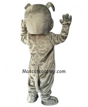 Cute Gray Buster Bulldog Dog Mascot Costume