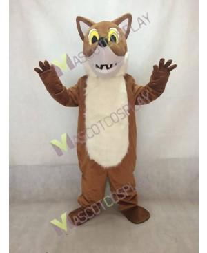 Brown Fox Mascot Costume