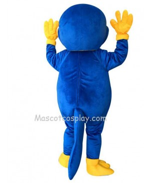 Cute Blue Platypus Mascot Costume
