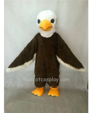 Hot Sale Adorable Realistic New Long Hair Brown American Eagle Mascot Costume
