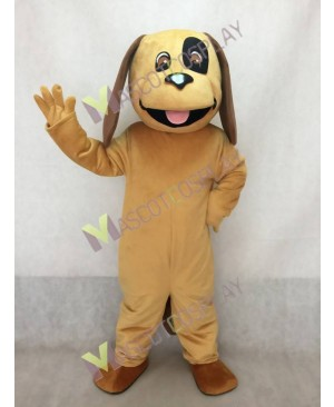 New Cute Tan & Brown Dog Mascot Costume