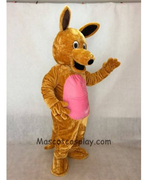 Cute Realistic Brown Kangaroo Mascot Adult Costume