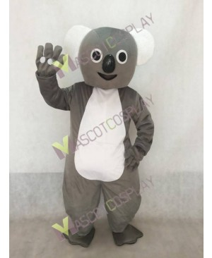 Adorable Gray Big Koala Mascot Costume