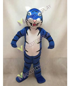 New Custom Color Royal Blue Bengal Tiger Mascot Costume