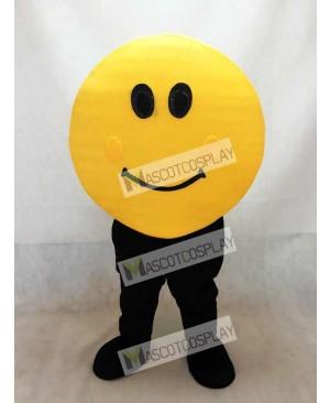 Yellow Happy Face Mascot Costume