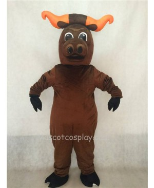 Hot Sale Adorable Realistic New Popular Professional Brown Longhorn Ox Cattle Mascot Costume