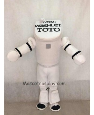 Hot Sale Adorable Realistic New Popular Professional TOTO Toilet Mascot Costume TOTO Washlet Robot Mascot Costumes