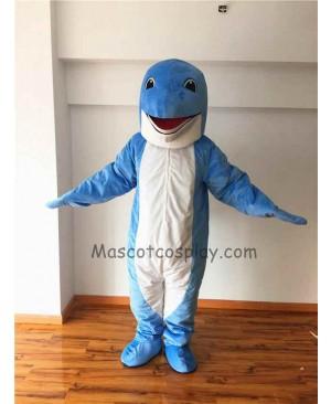 Cute Blue Dolphin Mascot Costume