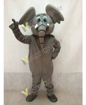 Cute Little Dark Grey Elephant Mascot Costume