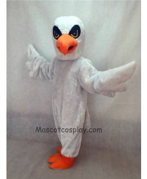 Hot Sale Adorable Realistic New Popular Professional White Hawk Mascot Costume with Yellow Eyes