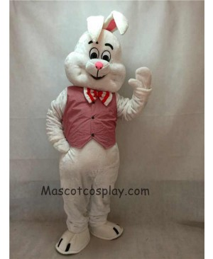 High Quality Easter Cute March Hare Bunny Rabbit Mascot Costume with Vest and Bow