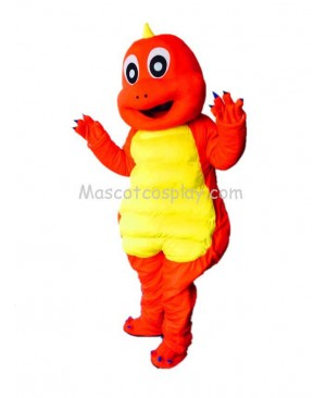 Cute Dinosaur Red Dragon Mascot Costume
