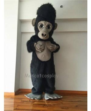 Cute Silverback Gorilla Mascot Costume
