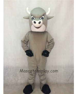 Party Animal Cartoon Grey Bull Mascot Costume