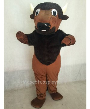 Wild Brown Buffy Buffalo Mascot Costume