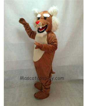 High Quality Realistic Muscle Wildcat Mascot Costume