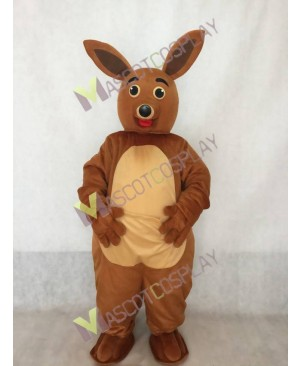 Cute Mamma Kangaroo Mascot Costume in White Belly