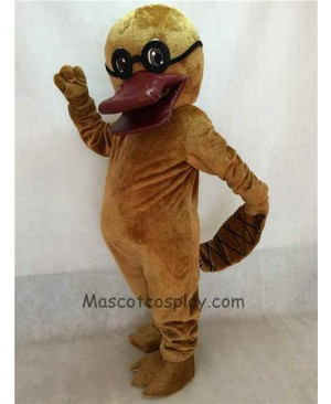Cartoon Platypus with Glasses Mascot Costume