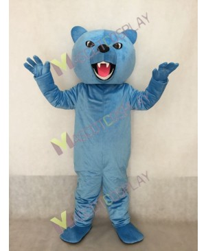 Custom Color Light Blue Fierce Grizzly Bear Mascot Costume