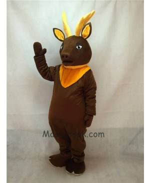 High Quality Brown Regal Elk Deer Mascot Costume