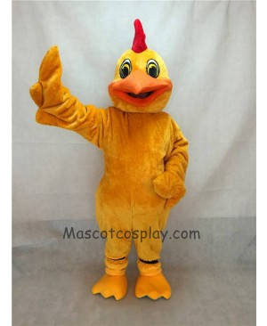 High Quality New Long Hair Plush Yellow Chicken Mascot Bird Costume