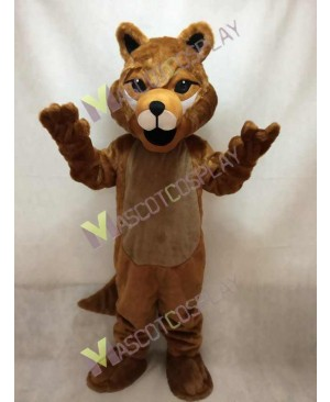 Cute Brown Roger Wolf Mascot Costume