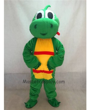 High Quality Green Yoshi Dinosaur Mascot Adult Costume