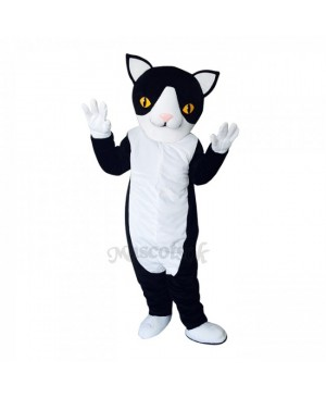 New Black and White Cute Cat Mascot Costume