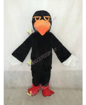 Black Fighting Hawk Mascot Costume