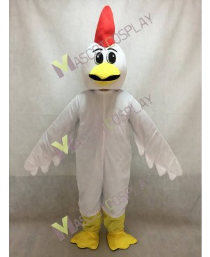 Cute White Chicken Surprise Mascot Costume