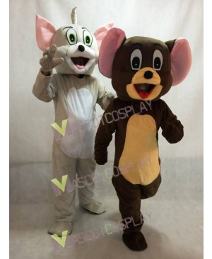 High Quality Tom Cat and Jerry Rat from Tom and Jerry Mouse Mascot Costume