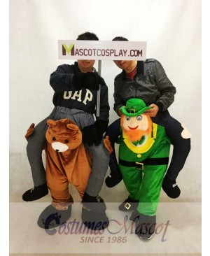 Teddy Bear Carry Me Piggyback Irish Carry Me Leprechaun Mascot Costume St Patricks Day