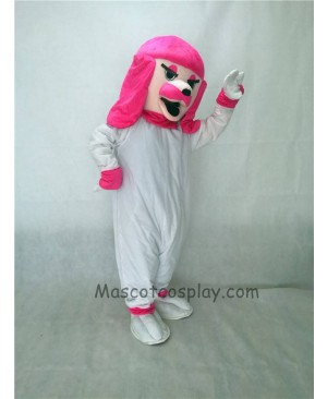 Cute Pink Poodle Dog Mascot Costume