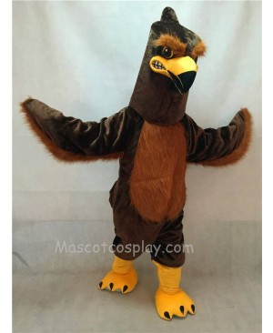 High Quality Brown Majestic Hawk Mascot Costume
