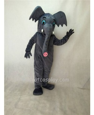 Cute New Gray African Elephant Mascot Costume
