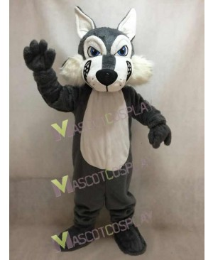 New Dark Grey Wolf Mascot Costume