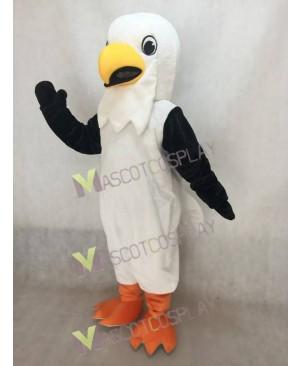 Cute Happy White Hawk Mascot Costume