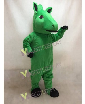 Custom Color Green Horse Mascot Costume