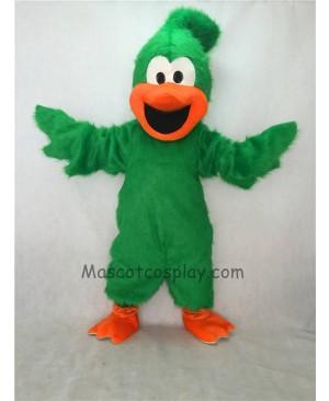 Cute New Green Plush Roadrunner Bird Mascot Costume
